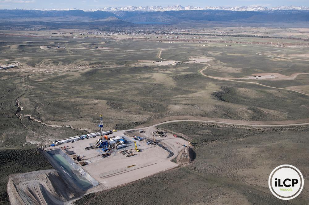 Natural gas platform, Wyoming.