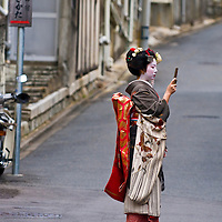 Kyoto, OCT  22: a participants on The Jidai Matsuri ( Festival of the Ages) held on October 22 2009  in Kyoto, Japan . It is one of Kyoto's renowned three great festivals