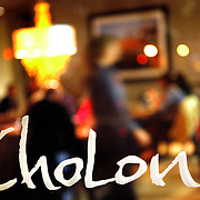 SHOT 10/12/10 7:11:57 PM - Signage for ChoLon Bistro in downtown Denver, Co. The restaurant showcases a contemporary approach to authentic Asian cuisine. Executive Chef Lon Symensma's extensive culinary background inspires a creative and seasonal menu made for sharing. (Photo by Marc Piscotty / © 2010)