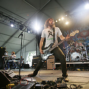 Troy Sanders (bass & vocals), Brann Dailor (drums), and Brent Hinds (guitar & vocals) of Mastodon performs during the third day of the 2008 Bonnaroo Music & Arts Festival on June 14, 2008 in Manchester, Tennessee. The four-day music festival features a variety of musical acts, arts and comedians..Photo by Bryan Rinnert