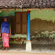South India. Village home.