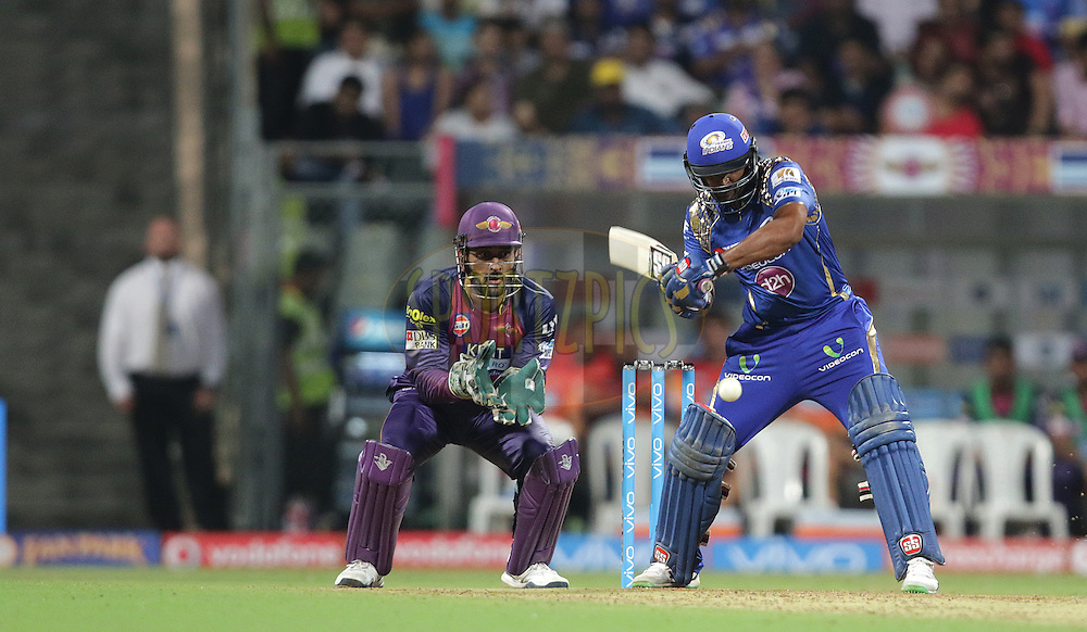 Ambati Rayuduof MI plays a shot  during match 1 of the Vivo Indian Premier League ( IPL ) 2016 between the Mumbai Indians and the Rising Pune Supergiants held at the Wankhede Stadium in Mumbai on the 9th April 2016<br /> <br /> Photo by Rahul Gulati/ IPL/ SPORTZPICS