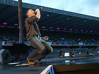 Singer Ronan Keating performs on stage..50,000 people filed into Murrayfield Stadium in Edinburgh, Scotland, on Wednesday July 6, 2005. The free gig, labelled Edinburgh 50,000 - The Final Push was the last of Bob Geldof's momentous Live 8 concerts..Pic ©2010 Michael Schofield. All Rights Reserved.