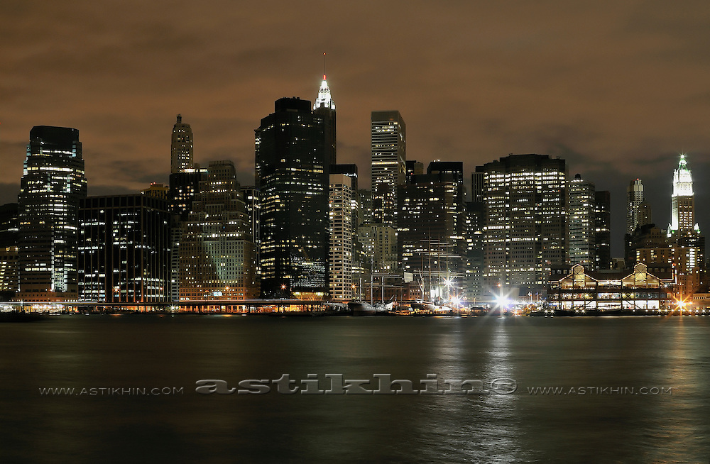 Lights of Manhattan, New York.