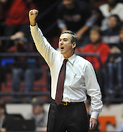 "Mississippi State coach Rick Stansbury vs. Mississippi at the C.M. ""Tad"" Smith Coliseum in Oxford, Miss. on Wednesday, January 18, 2012. Mississippi won 75-68. (AP Photo/Oxford Eagle, Bruce Newman)."