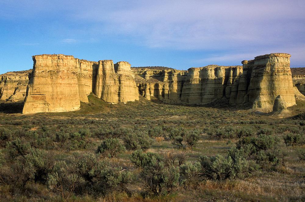 Pillars of Rome rock formation, Jordan Valley, southeast Oregon.
