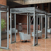 Concrete chair art in outside Meany Studio Theater, University of Washington, Seattle, Washington, USA