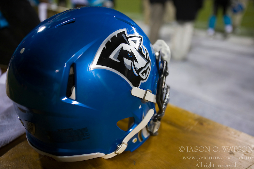 November 19, 2009; San Francisco, CA, USA;  Florida Tuskers blue helmet during the fourth quarter against the California Redwoods at AT&T Park. Florida defeated California 34-27.