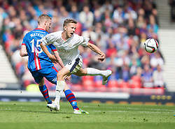 Falkirk's Will Vaulks tackled Inverness Caledonian Thistle's Marley Watkins. Falkirk 1 v 2 Inverness CT, Scottish Cup final at Hampden.