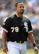 CHICAGO - JUNE 30:  Jose Abreu #79 of the Chicago White Sox looks on against the Minnesota Twins on June 30, 2016 at U.S. Cellular Field in Chicago, Illinois.  The White Sox defeated the Twins 6-5.  (Photo by Ron Vesely) Subject:    Jose Abreu