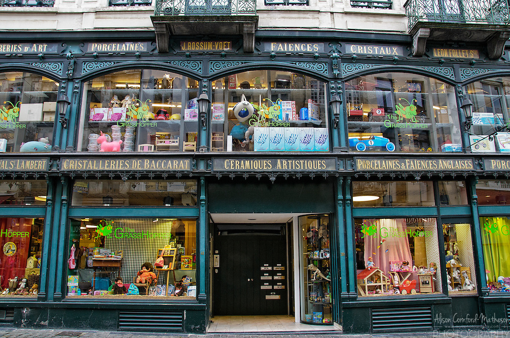 The Grasshopper Toy Store in Brussels, Belgium