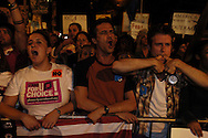 Demonstrators against U.S. President George Bush rally near the site of the Republican National Convention during the President's party nomination September 2, 2004 in New York City.