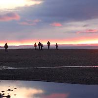 Sunset at Nanisiv. Lancaster Sound. HIgh Arctic. Baffin Island. Canada<br />