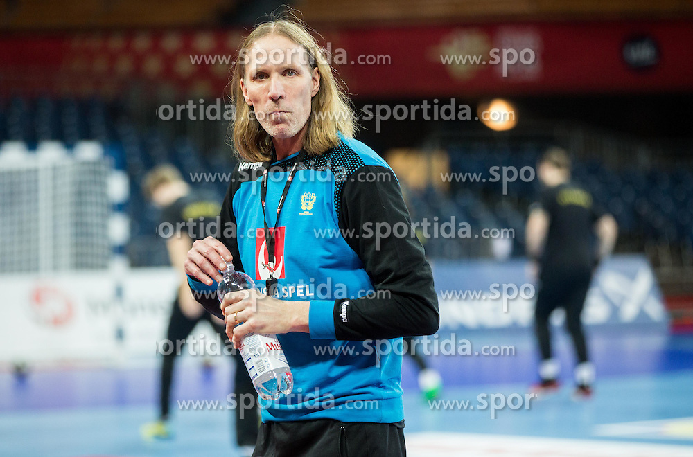 Staffan Olsson, coach during practice session of Team Sweden on Day 1 of Men's EHF EURO 2016, on January 15, 2016 in Centennial Hall, Wroclaw, Poland. Photo by Vid Ponikvar / Sportida