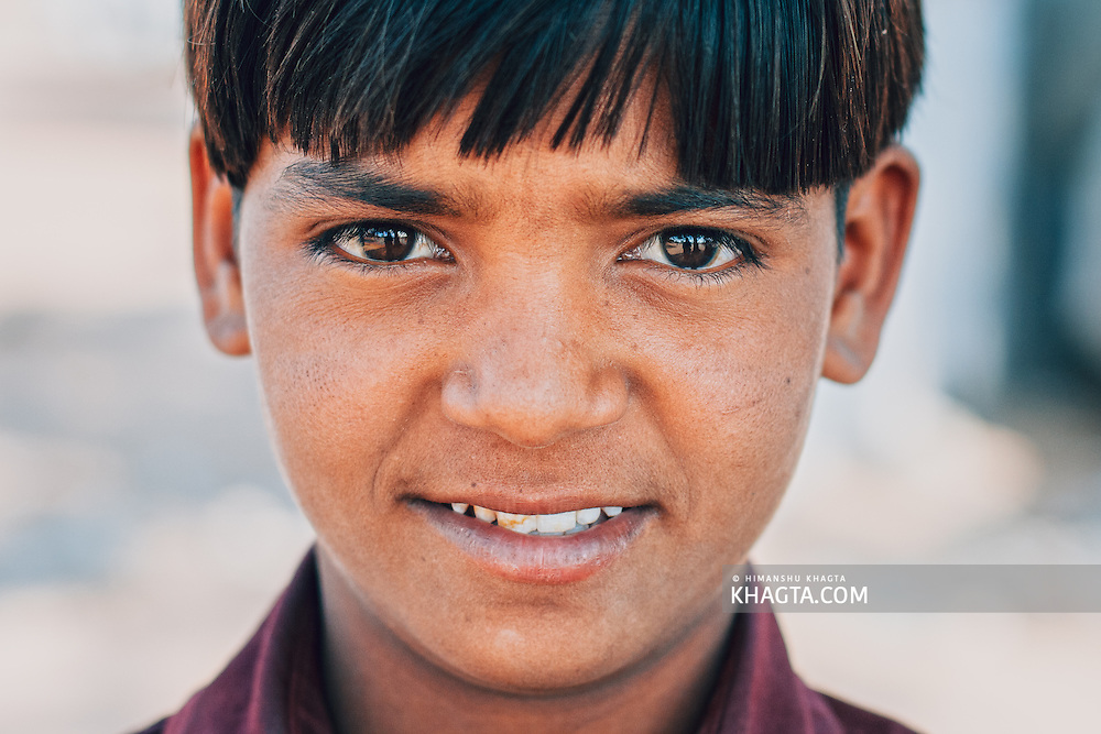 Portrait of a Rajasthani boy at Nagaur, Rajasthan