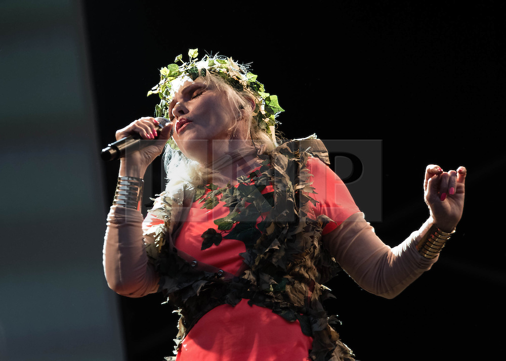 © Licensed to London News Pictures. 09/07/2013. London, UK.   Blondie performing live at Kew Gardens. In this pic - Debbie Harry.  Blondie is an American rock band founded by singer Deborah Harry and guitarist Chris Stein.  Photo credit : Richard Isaac/LNP