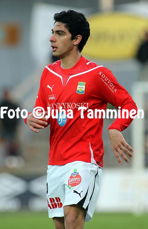 18.04.2010, Tapiolan Urheilupuisto, Espoo..Veikkausliiga 2010, FC Honka - Myllykosken Pallo-47..Felipe Benevides - MyPa.©Juha Tamminen.