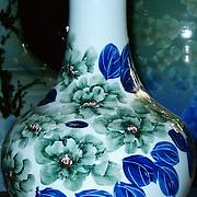 V-119-S-Blue-floral vase