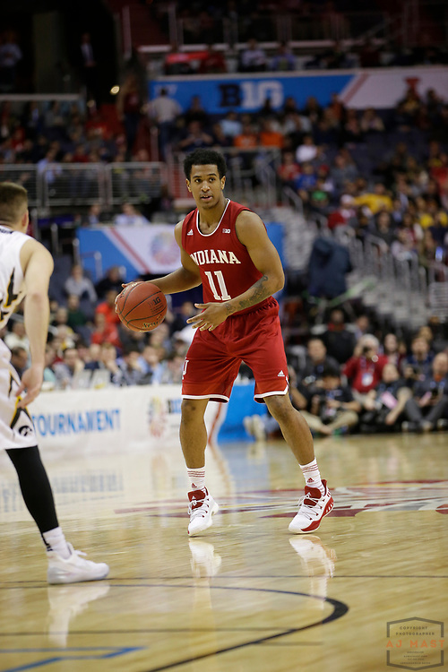 Indiana guard Devonte Green (11) in action as Indiana played Iowa in an NCCA college basketball game in the second tournament in Washington, D.C., Thursday, March 9, 2017. (Photo by AJ Mast)