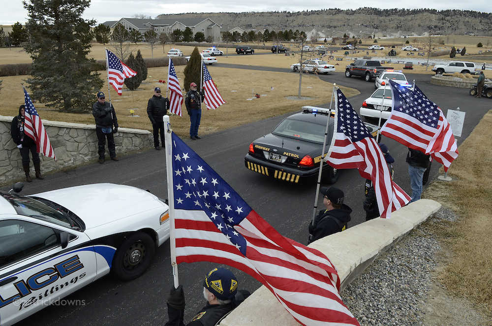 Funeral for Chris Romero,  Sheriff's deputy who died young. March 3, 2012