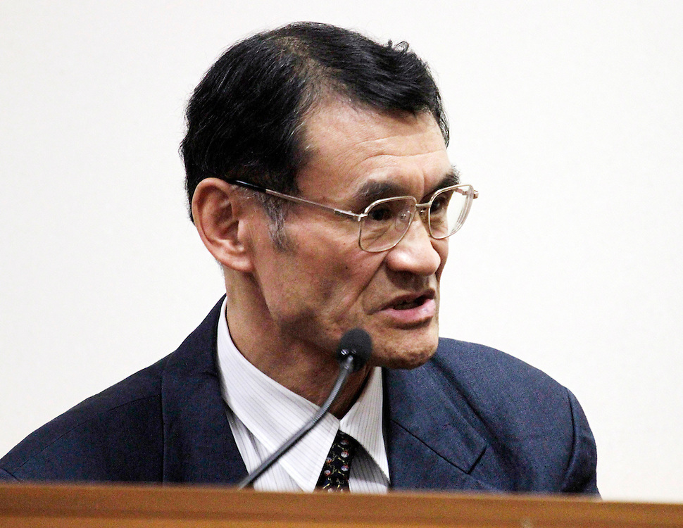 Masaoki Nishioka, former Pike River hydro-mining operator at the Pike River Royal Commission Hearings at District Court, Greymouth, New Zealand, Wednesday, November 23, 2011. Credit:SNPA / The Press, David Hallett  **POOL**
