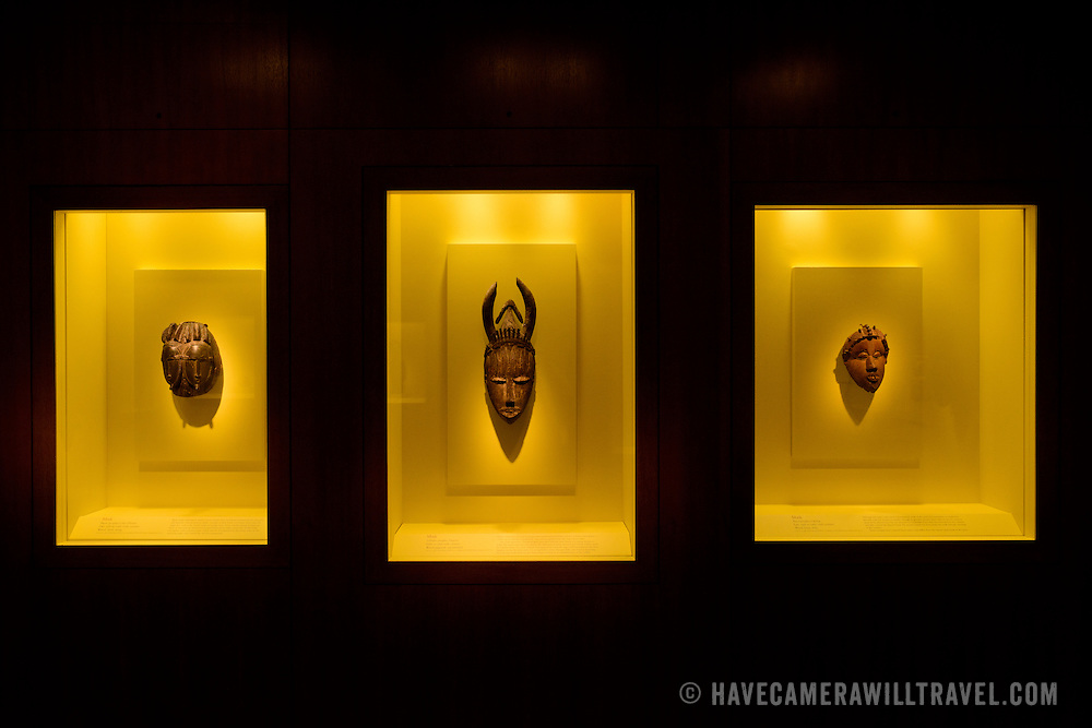 Smithsonian National Museum of African Art Three Masks. The Smithsonian National Museum of African Art was opened at its current location in 1987 as a mostly underground facility behind the Smithsonian Castle on Washington DC's National Mall. It is dedicated to ancient and contemporary African art.