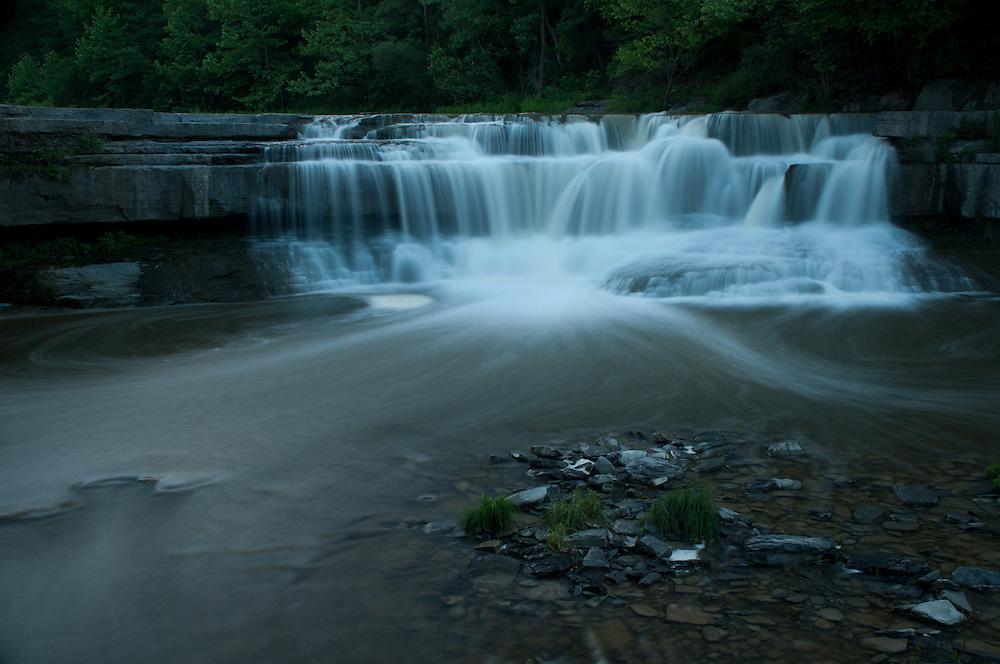 This is the lower falls at Taughannock Falls State Park.