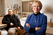 Judy Ferrel, Lab manager at Providence Medical Center, with son Collin.