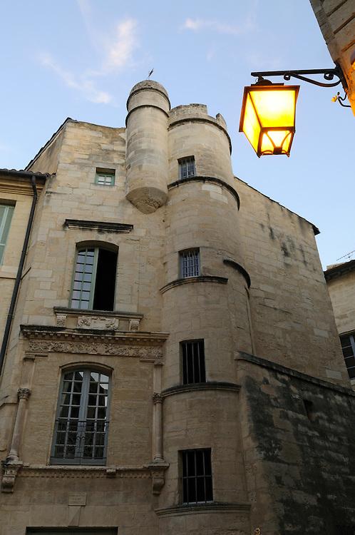 France, Languedoc Roussillon, Gard (30), Uzès, 1 place Dampmartin, inscrit à l'inventaire supplémentaire des monuments historiques