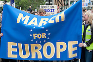 March for Europe, London, UK (2 July 2016). Tens of thousands march in protest against the prospect of Britain leaving the EU, following the EU referendum. Although the country voted by a narrow majority to leave the EU, the Leave campaign was subsequently shown to be based substantially upon lies and misinformation. As predicted by Remain campaigners the referendum result was immediately followed by a major downturn in the UK economy, and since the result there has also seen a sharp increase in racist attacks and hate crime across the UK. © Rudolf Abraham
