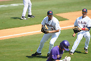 Ole Miss' Tanner Bailey throws to first for an out vs. LSU at Regions Park in the SEC Tournament in Hoover, Ala. on Thursday, May 24, 2012.  LSU won 11-2.