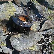 Kaffen er straks klar. Skarvene og Roltdalen nasjonalpark.