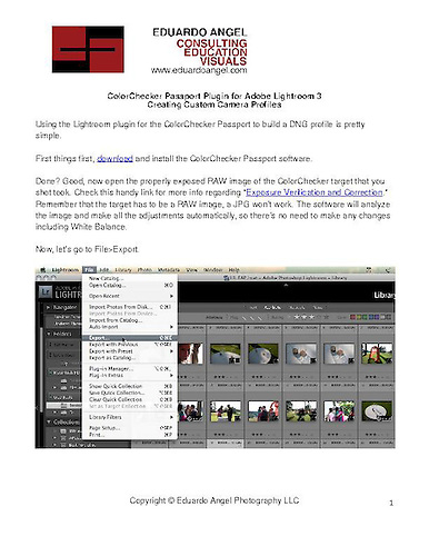 Colorchecker Passport Lightroom 4 Plugin