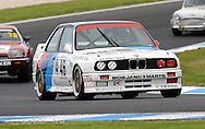 Bill Cutler - Group A - BMW M3.Historic Motorsport Racing - Phillip Island Classic.18th March 2011.Phillip Island Racetrack, Phillip Island, Victoria.(C) Joel Strickland Photographics.Use information: This image is intended for Editorial use only (e.g. news or commentary, print or electronic). Any commercial or promotional use requires additional clearance.