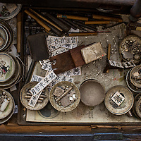 A silversmith's drawer. Balik Pulau, Penang, Malaysia
