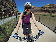 SHOT 5/9/16 11:10:25 AM - GoPro footage and stills of the Mag 7 trail, Fisher Towers and the bike trail along Highway 128 in Moab. Moab is a city in Grand County, in eastern Utah, in the western United States. Moab attracts a large number of tourists every year, mostly visitors to the nearby Arches and Canyonlands National Parks. The town is a popular base for mountain bikers and motorized offload enthusiasts who ride the extensive network of trails in the area. (Photo by Marc Piscotty / © 2016)