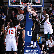 Erie BayHawks Forward Daniel Coursey (30) dunks the ball as Delaware 87ers Guard Jamal Jones (22) defends in the second half of a NBA D-league regular season basketball game between the Delaware 87ers and the Erie BayHawk (Orlando Magic) Friday, Mar. 20, 2015 at The Bob Carpenter Sports Convocation Center in Newark, DEL.