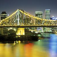 view from Wilson Outlook Reserve.Story Bridge & Brisbane River.Brisbane.Queensland.Australia
