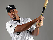 GLENDALE, ARIZONA - FEBRUARY 27:  Jose Abreu of the Chicago White Sox poses for a portrait during White Sox photo day on February 27, 2015 at Camelback Ranch in Glendale Arizona.  (Photo by Ron Vesely)