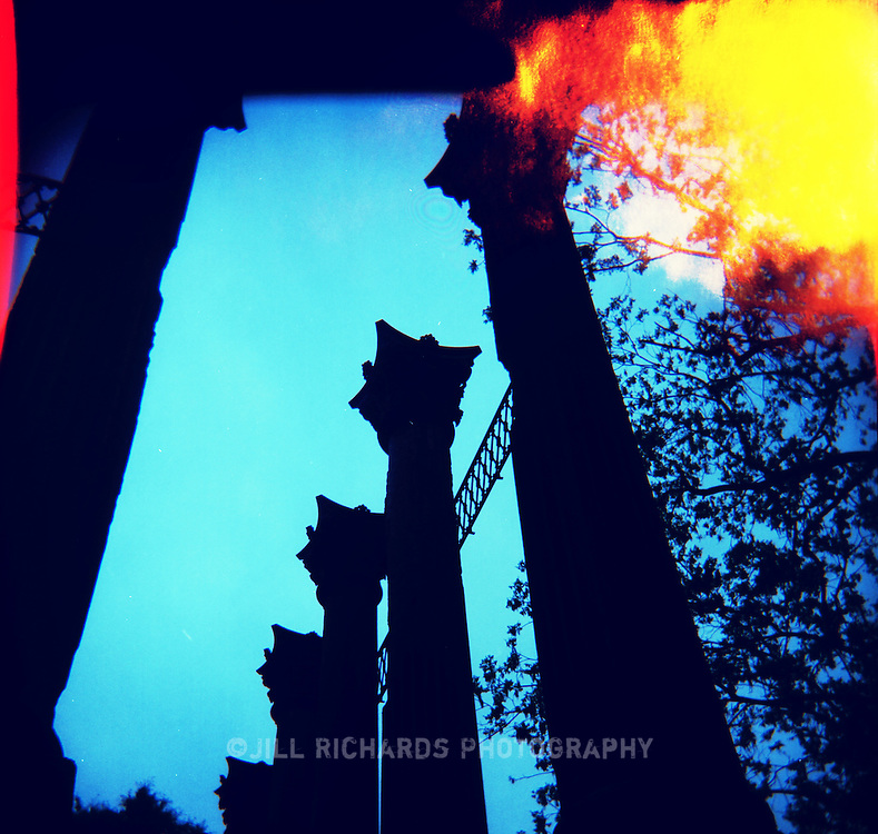Windsor Ruins are columns from a mansion built in 1861 along the Natchez Trace in Mississippi.<br /> Shot on film with a Holga camera.