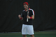 Ole Miss' Marcel Thiemann vs. Georgia in college tennis action at Palmer-Salloum in Oxford, Miss. on Friday, April 1, 2011. Georgia won 4-3.