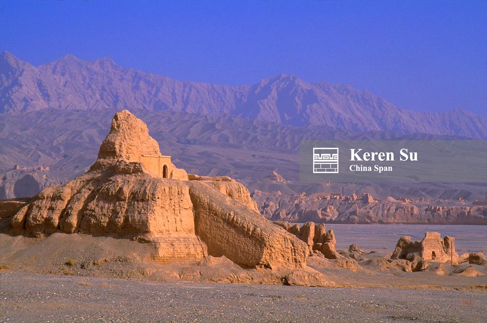 Ruins of ancient city of Subashi, Kuga area, Xinjiang Province, Silk Road, China