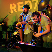 Debo Band perform at Red 7 on March 16, 2012 during SXSW 2012.