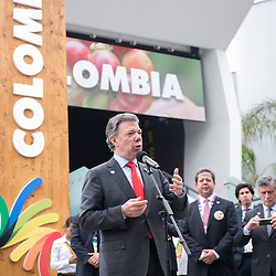 Foto Piero Cruciatti / LaPresse<br /> 12-06-2015 Milano, Italia<br /> Cronaca<br /> Giornata Sudamericana a Expo<br /> Nella foto: Juan Manuel Santos Calder&oacute;n, Presidente della Repubblica di Colombia<br /> Photo Piero Cruciatti / LaPresse<br /> 12-06-2015 Milan, Italy<br /> News<br /> South American day at Expo<br /> In the Photo: Juan Manuel Santos Calder&oacute;n, President of Colombia