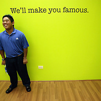 HONOLULU, HAWAII, November 8, 2007: Tadd Fujikawa, a sixteen-year-old professional golfer, meets with potential endorsers at an ad agency in Honolulu, Hawaii,. (Photographs © Todd Bigelow/Aurora)