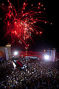 Fireworks over a Romney/Ryan campaign rally in Daytona Beach, Florida, October 19, 2012.