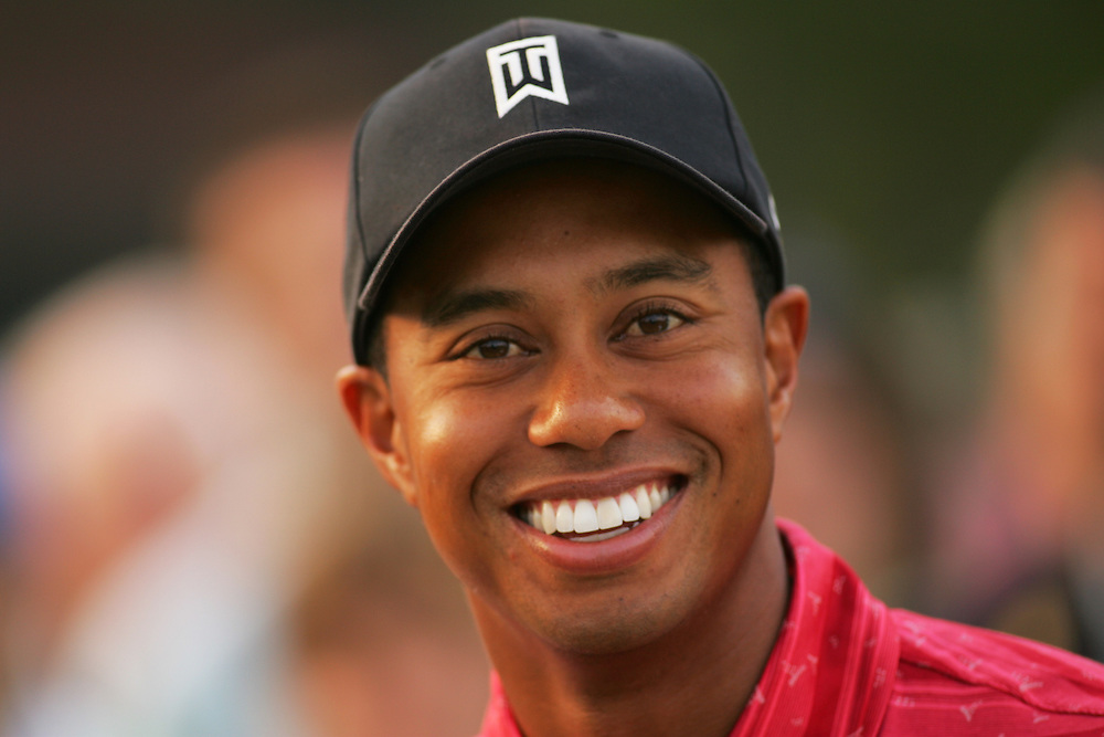 Tiger Woods Smile - Image Copyright PhotoShelter.Com