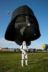 """Stormtrooper and Darth Vader Balloon 1"" - This Star Wars stormtrooper and Darth Vader hot air balloon were photographed at the 2011 Great Reno Balloon Race in Reno, Nevada."