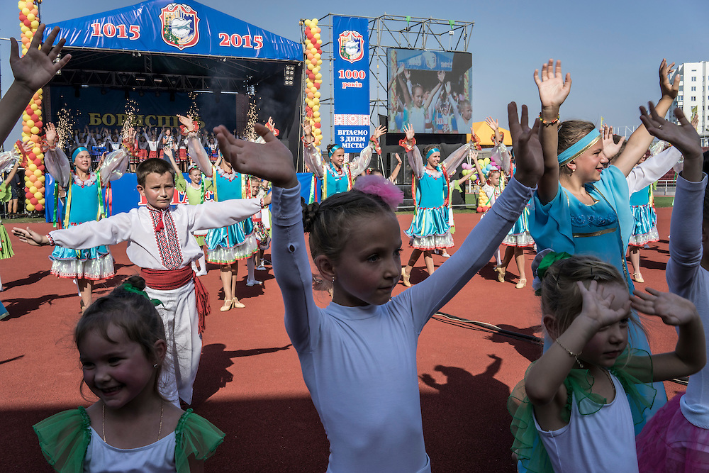 The 1000th anniversary of the founding of the city on Saturday, September 19, 2015 in Boryspil, Ukraine.