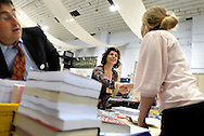 UK. London. London Book Fair at the Earls Court Exhibition Centre in London..Photo shows the deals being made and discussions taking place in the International Rights Centre of the hall..Photo©Steve Forrest/Workers Photos
